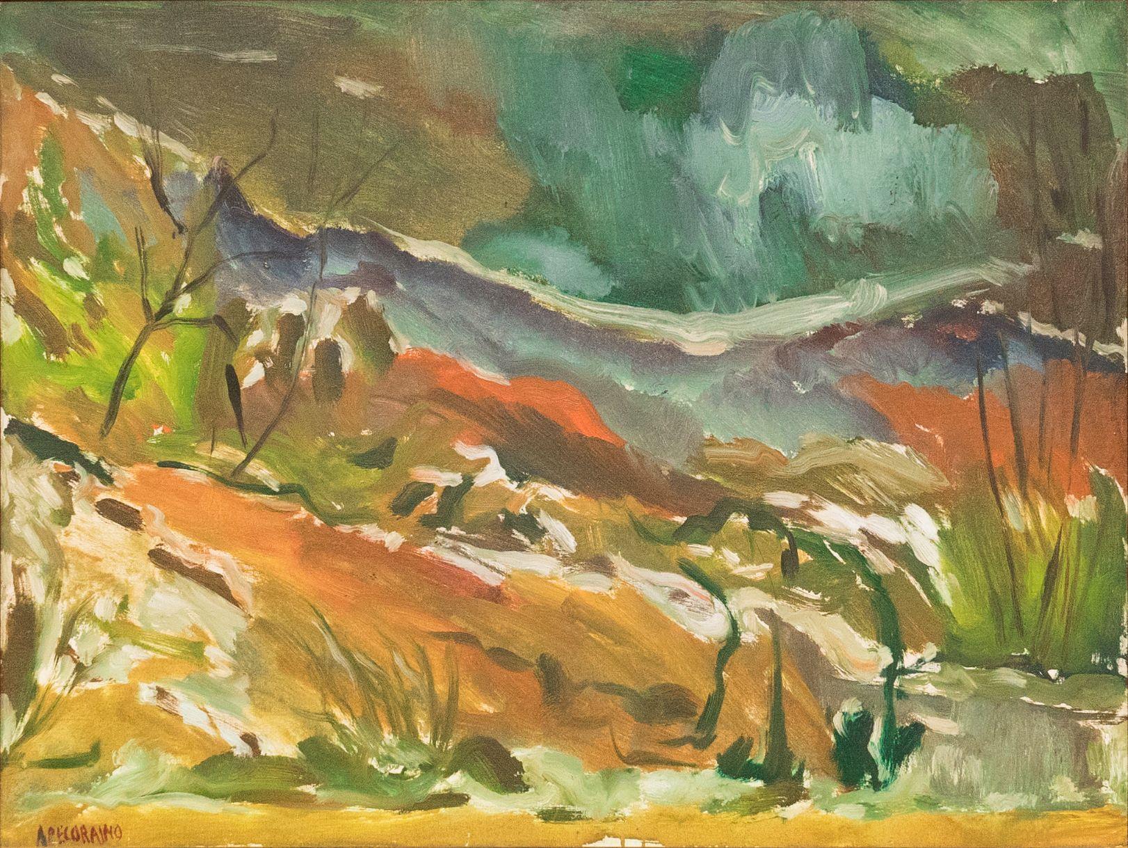 Aldo Pecoraino, Paesaggio, 1962.