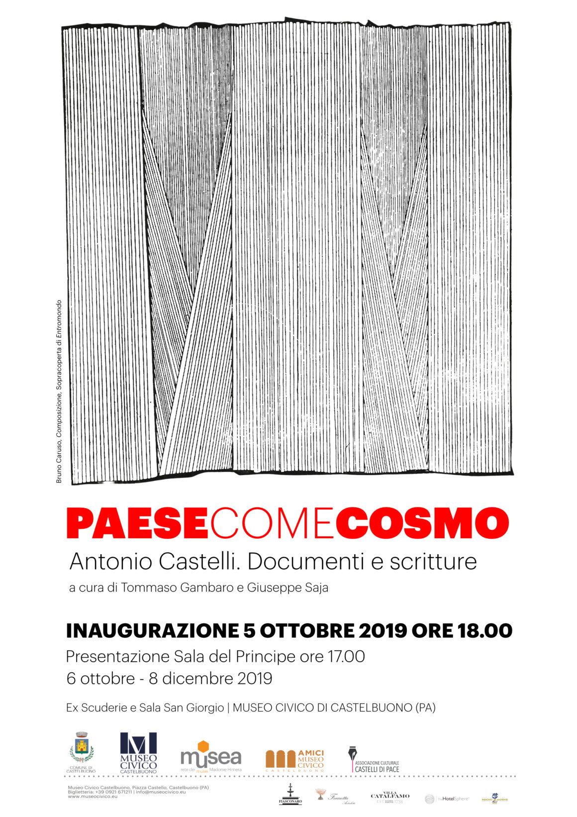 """""""Paese come Cosmo"""". Antonio Castelli. Documenti e scritture"""