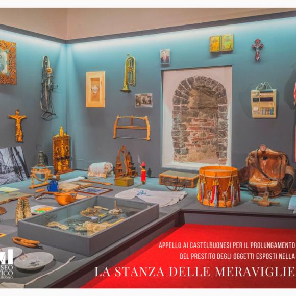 Appello ai Castelbuonesi per il prolungamento del prestito degli oggetti esposti nella Stanza delle Meraviglie